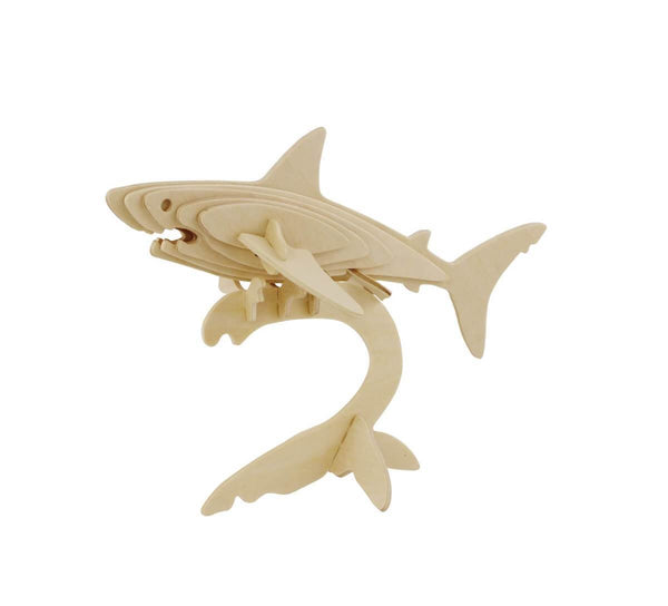 Hands Craft JP229 DIY 3D Wooden Puzzle: Shark