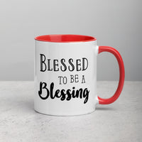 Blessed To Be A Blessing | Mug with Color Inside