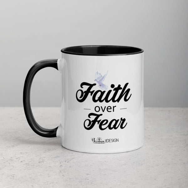Faith Over Fear | Mug with Color Inside