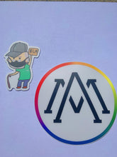 Load image into Gallery viewer, LIMITED Green Shirt Guy + official Alphabet Mafia sticker combo