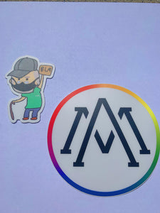 LIMITED Green Shirt Guy + official Alphabet Mafia sticker combo