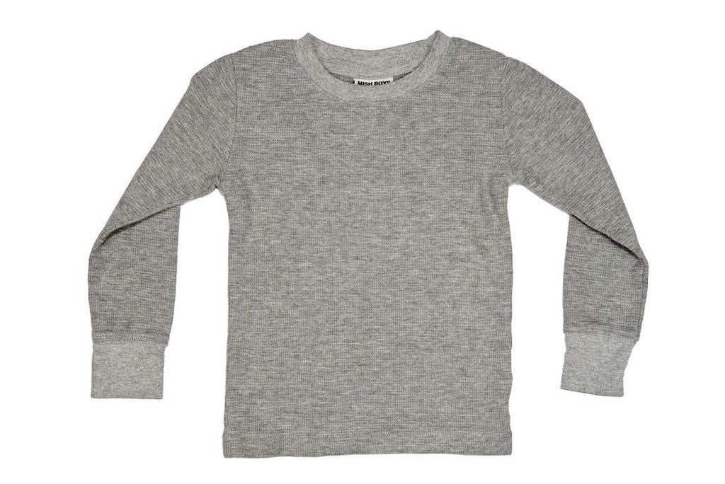 Mish Distressed Thermal ~ Heather Gray
