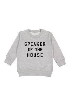 Love Bubby Speaker of the house pullover
