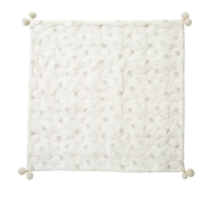 Pehr Hatched Quilted Blanket ~ Little Lamb