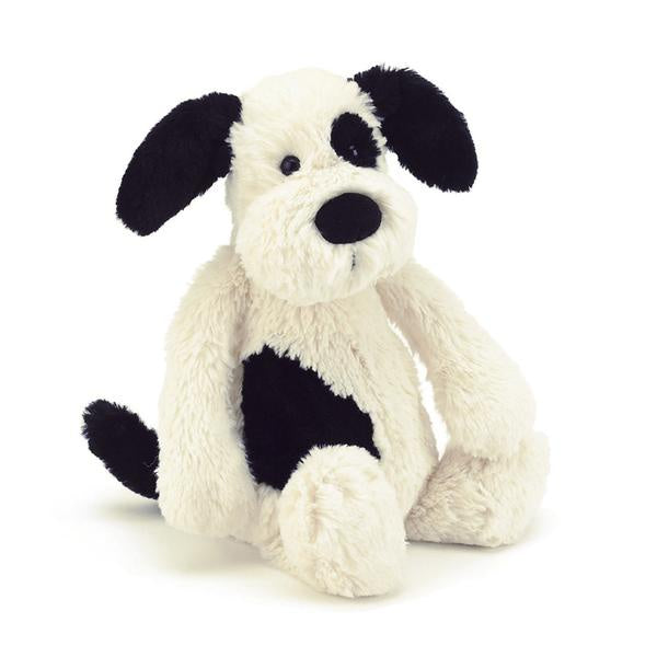 Jellycat Bashful Puppy Black & Cream ~ Medium