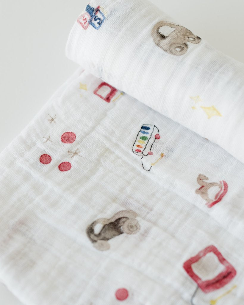 Little Unicorn Muslin Swaddle ~ Toy Box