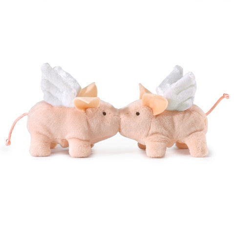 Folkmanis Mini Winged Piglet Finger Puppet Set of 2