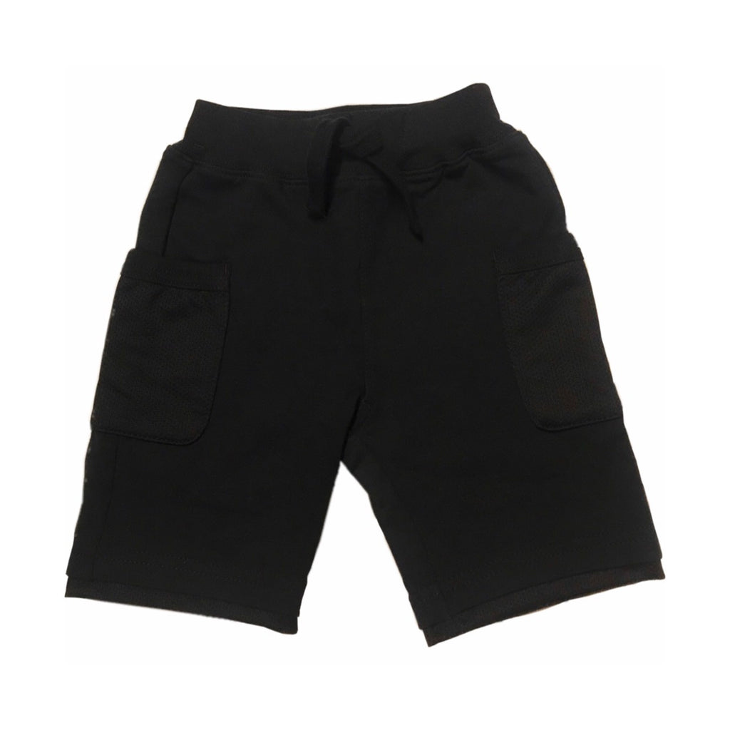 Bitz Kids Boys Mesh Pocket Shorts ~ Black