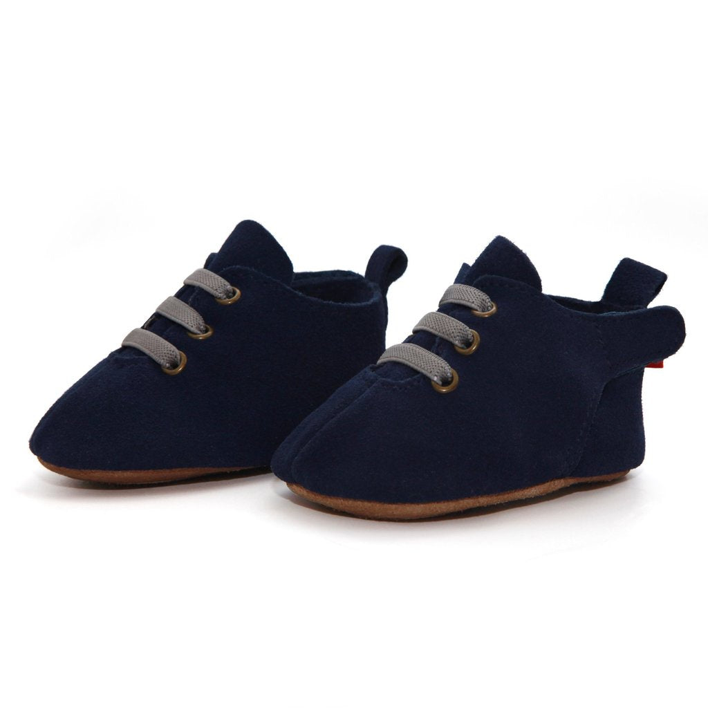 Zutano Suede Oxford Baby Shoe ~ Navy