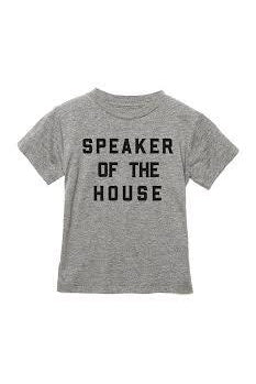 Love Bubby Speaker of the House Tee 2-6