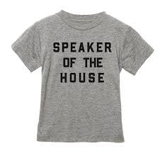 Love Bubby Speaker of the House Tee 7-14