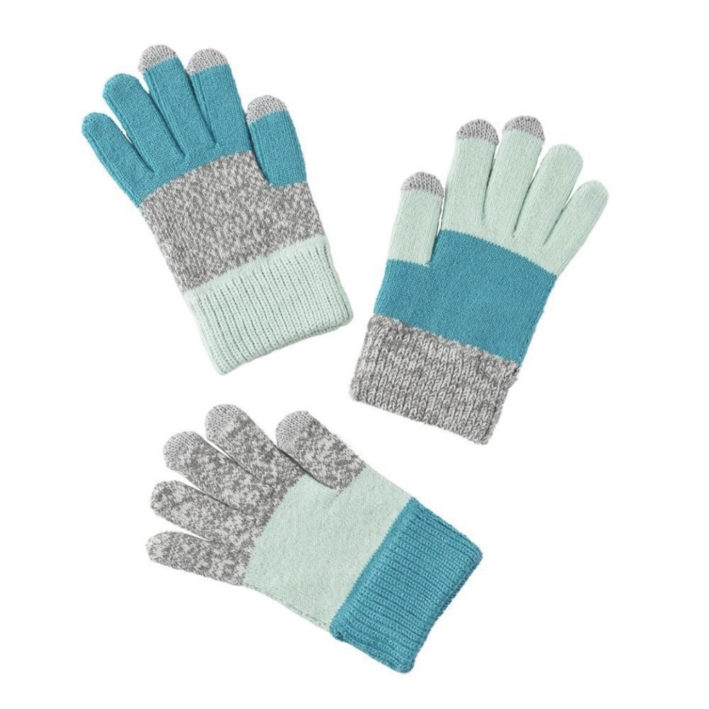 Verloop Kids Pair and a Spare Gloves ~ Light Grey Blue
