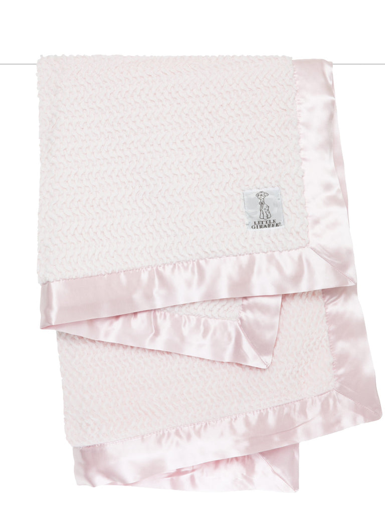 Little Giraffe Luxe Twist Blanket ~ Pink