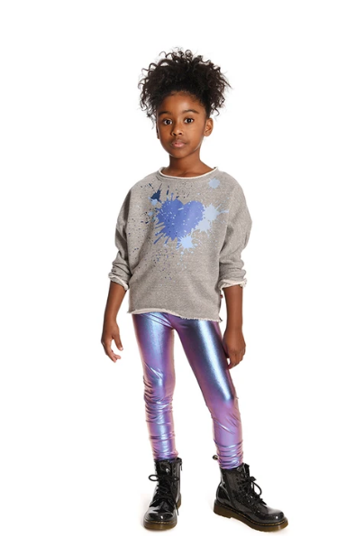 Appaman Slouchy Sweatshirt 2-6g ~ Paint Splash Heart