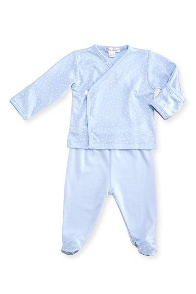 Kissy Kissy Footed Pant Set ~ Starry Sky (blue)