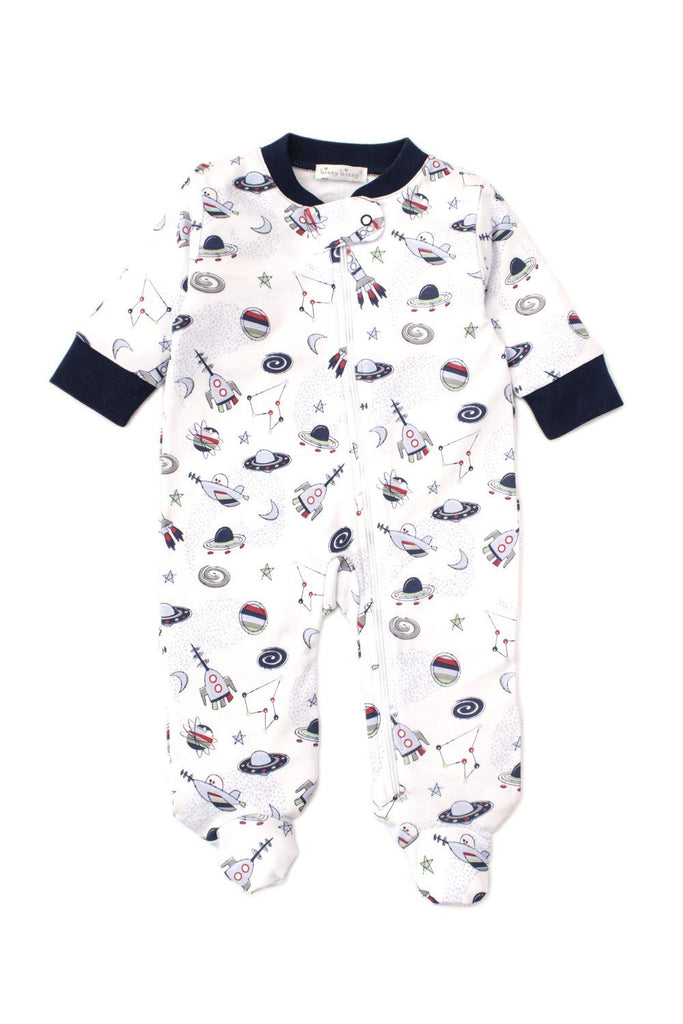 KissyKissy Footie w/ Zip ~ Outer Space Print