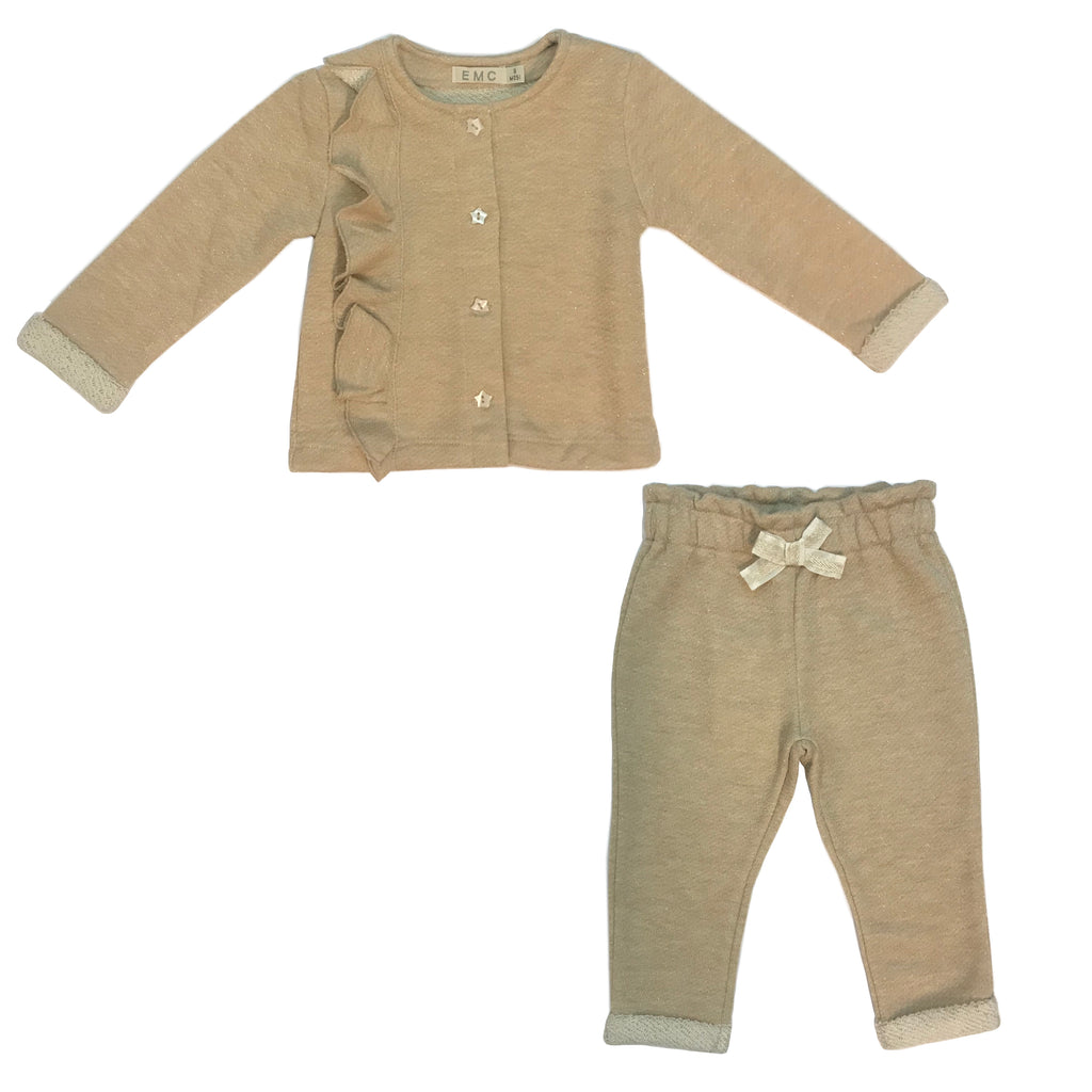 Emc Baby Girl Cardigan, T Shirt & Pant 3pc Set