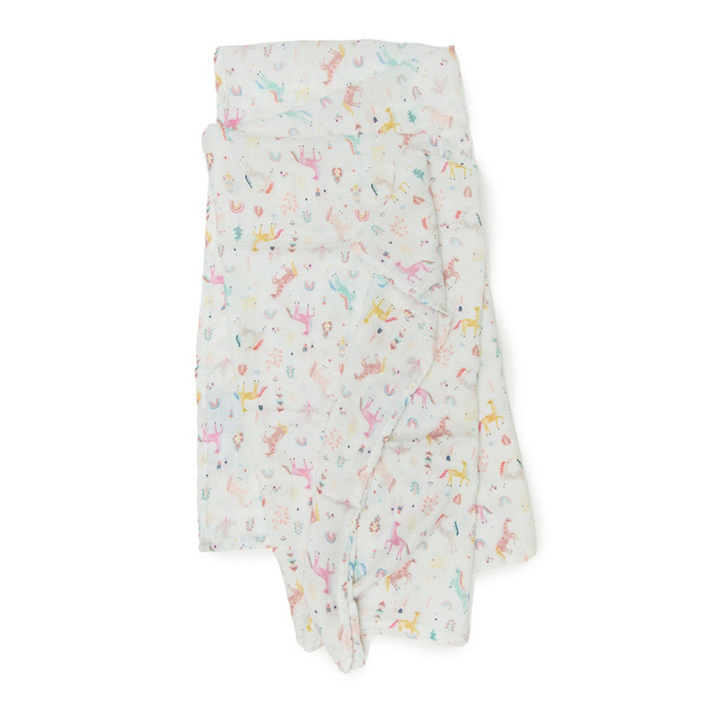 Loulou Lollipop Muslin Swaddle ~ Unicorn Dream