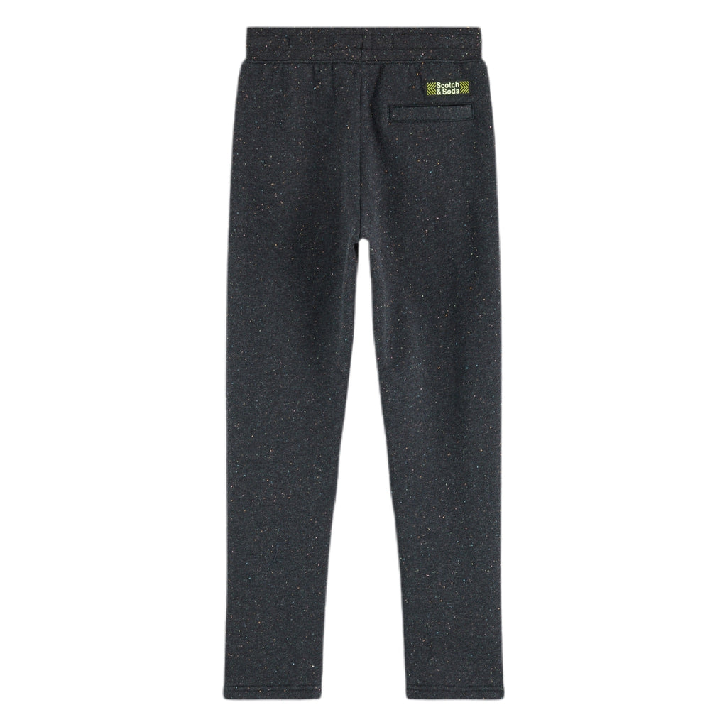 Scotch Shrunk Boys Cotton Sweatpants in Two Tone ~  Black