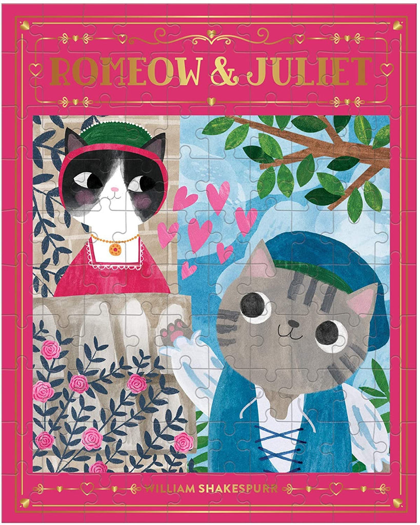 Chronicle Romeow & Juliet Bookish Cats 100pc Puzzle