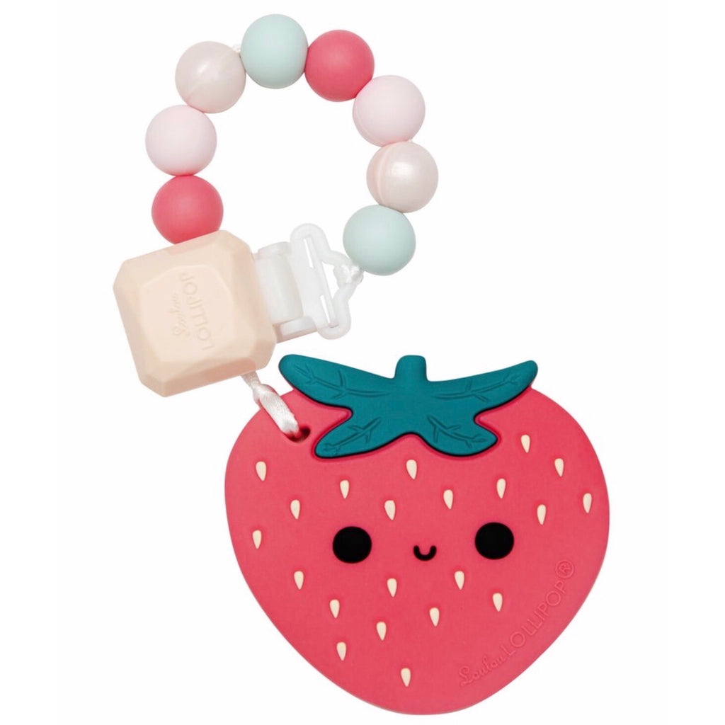 Loulou Lollipop strawberry Teether Set