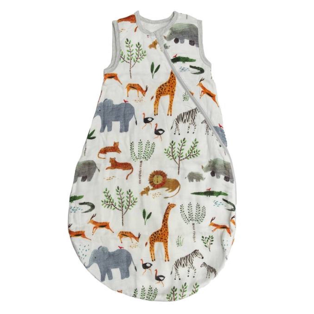 Loulou Lollipop Muslin Sleep Bag ~ Safari Jungle