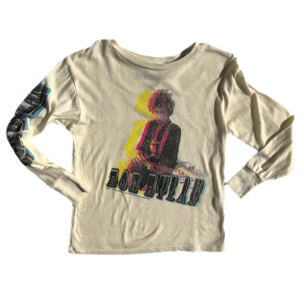 Rowdy Sprout Bob Dylan LS Infant Tee ~ Cream Soda