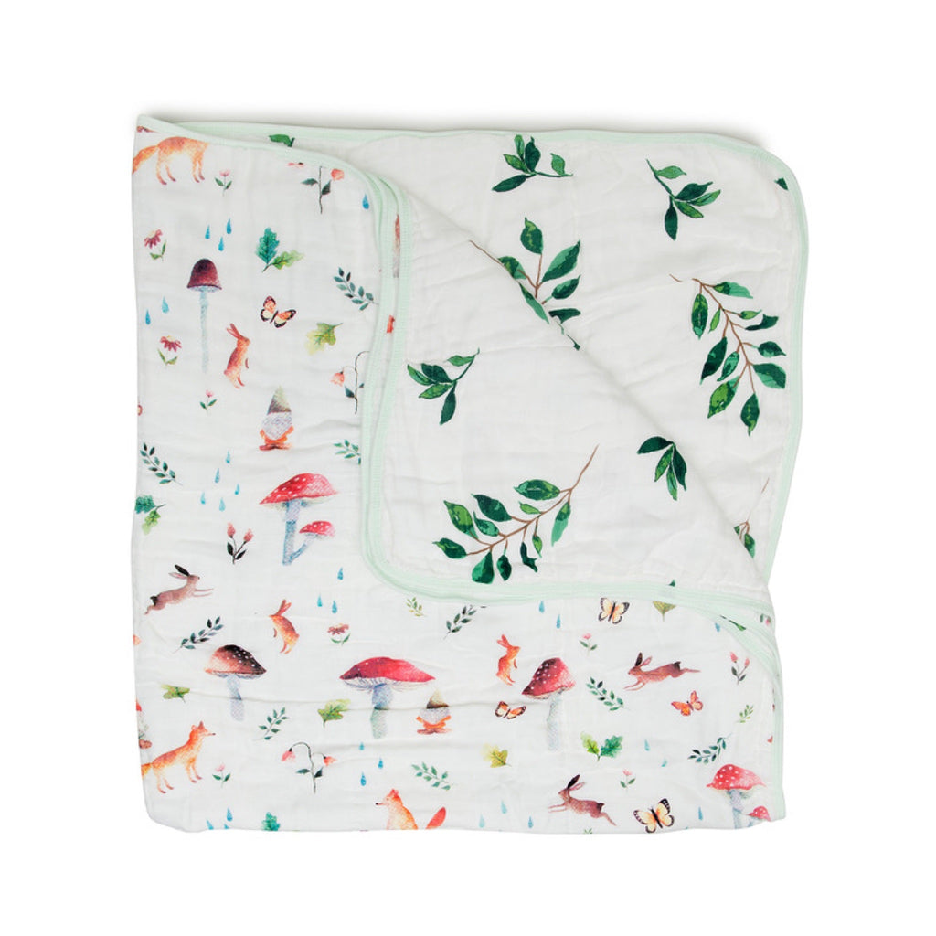 Loulou Lollipop Muslin Quilt Blanket  ~ Woodland Gnome