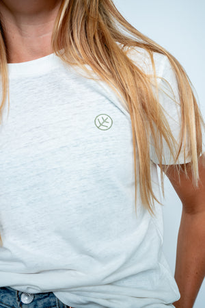 'Revival' White Hemp T-Shirt Women