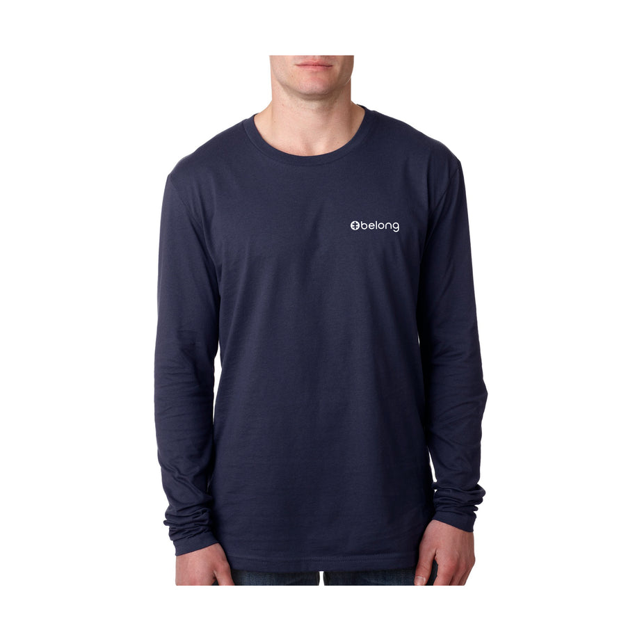 "Midnight Navy ""Awareness"" Cotton- Unisex  Long- Sleeve"