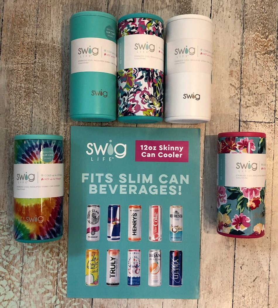 Skinny Can Cooler- Multiple Colors