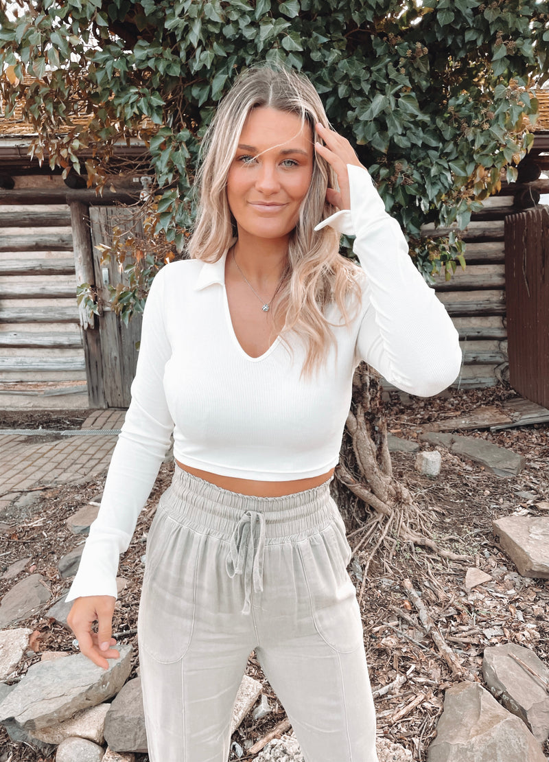 Jenner Collared Crop