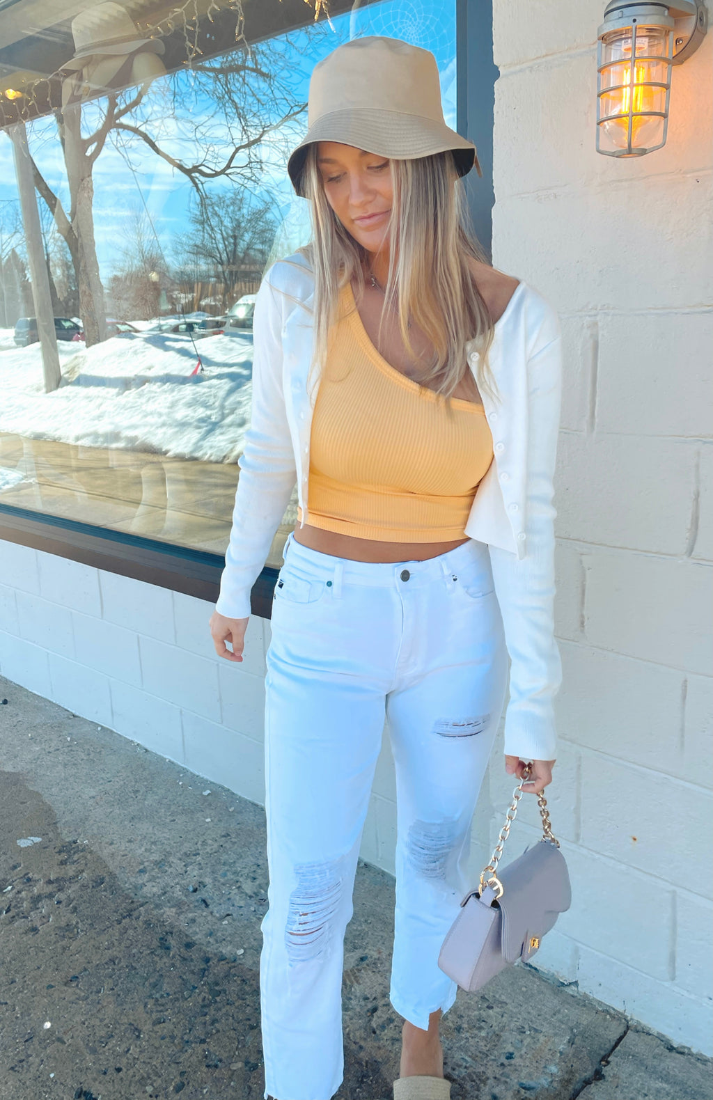 Gia White Denim
