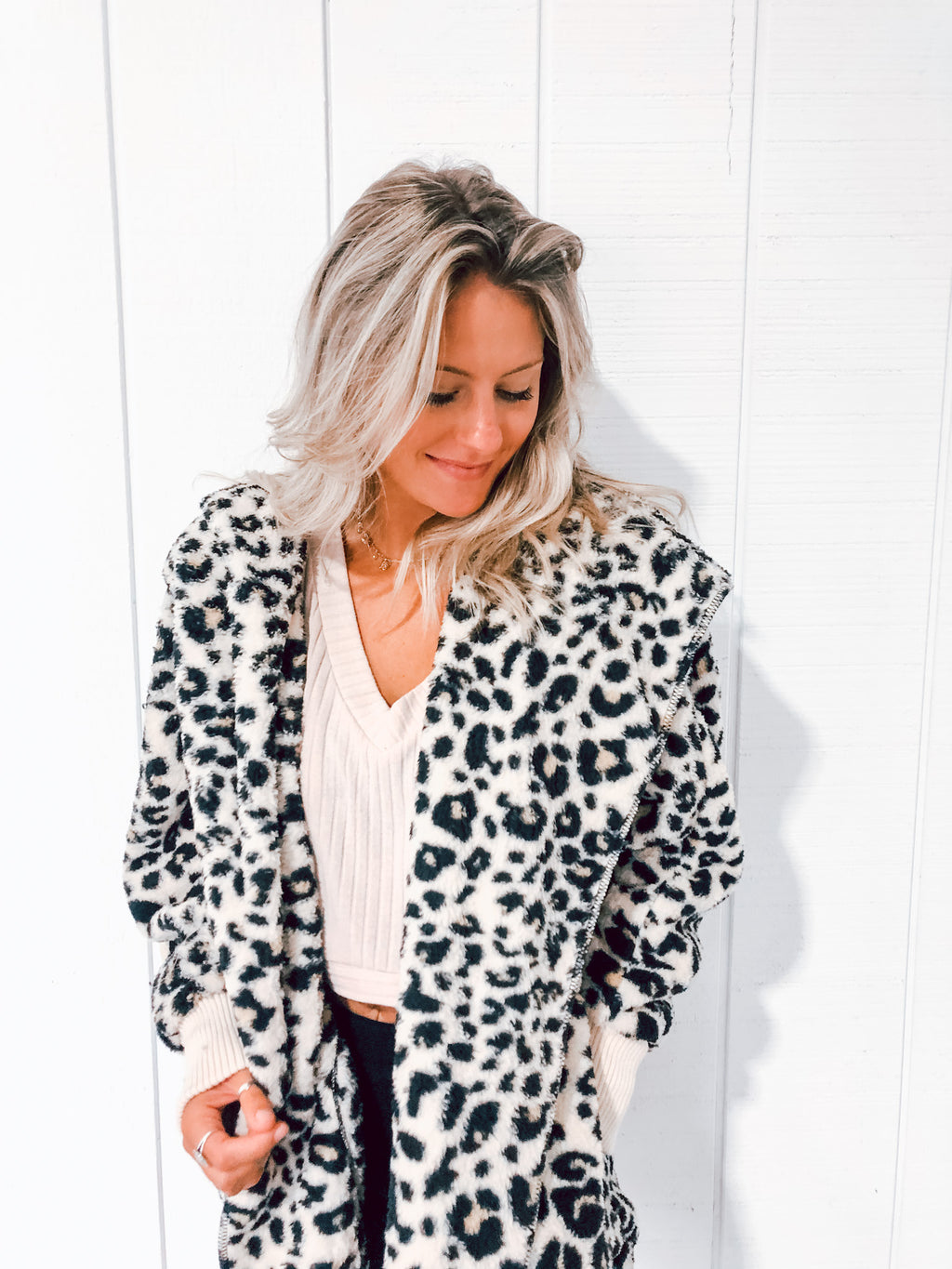 Leopard Bear Coat
