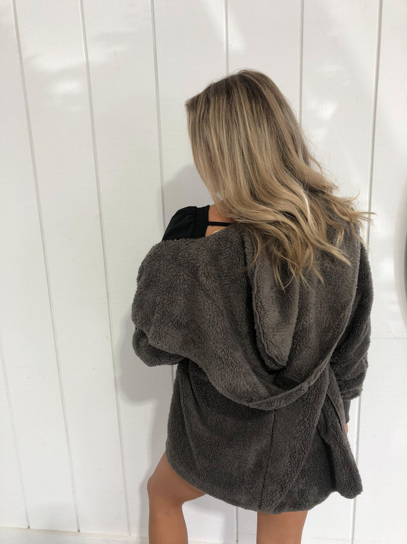 Steel Grey Bear Coat
