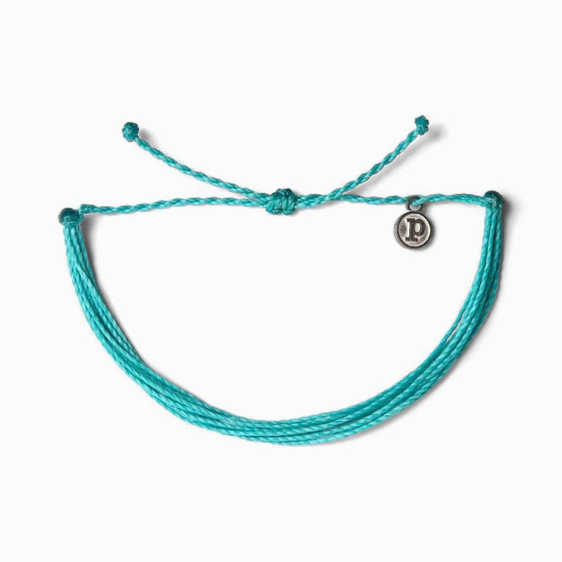 Pura Vida Solid Original Bracelet- Pacific Blue
