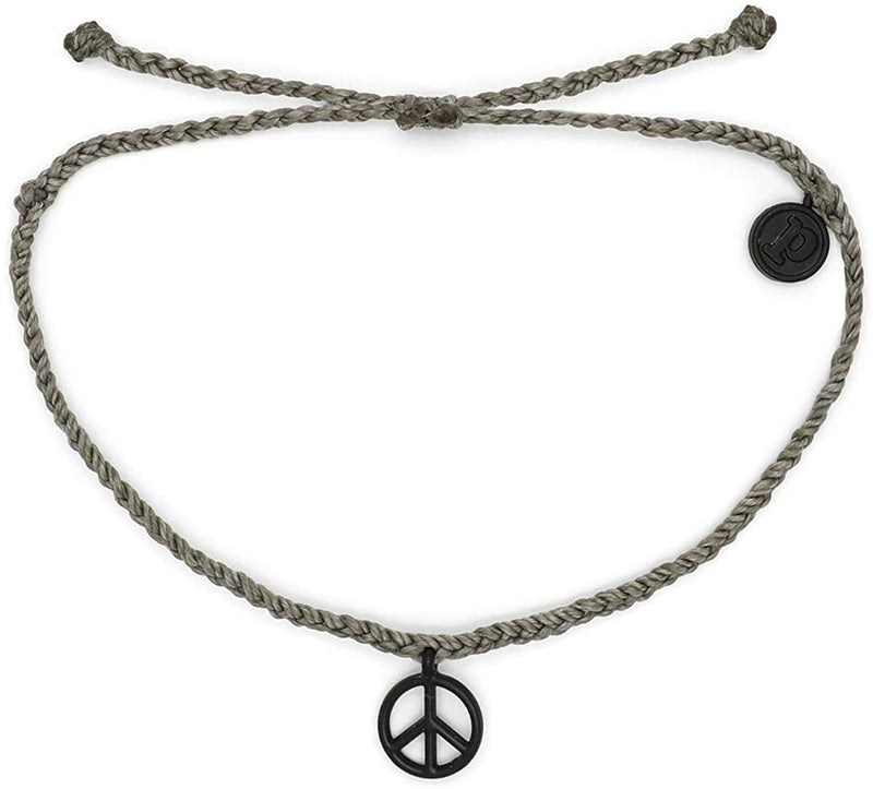 Pura Vida Bitty Charm Bracelet- Peace Sign