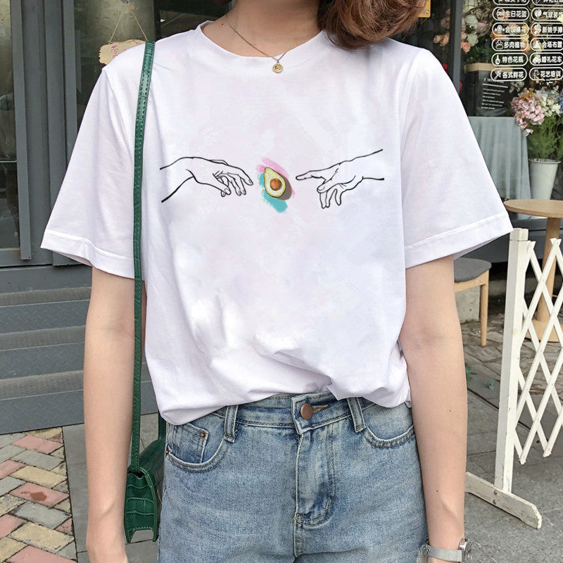 Harajuku Avocado Vegan T Shirt
