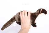Otter - Handmade plush animal - realistic faux fur