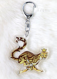 Royal Beasts: Cheetah -  Acrylic Charm - 2 inch double sided keychain