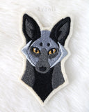 Silver Fox - Embroidered Iron-on Patch