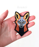 Cross Fox - Embroidered Iron-on Patch