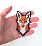 Red Fox - Embroidered Iron-on Patch