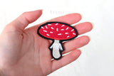 Amanita Mushroom / Fly Agaric - Embroidered Iron-on Patch