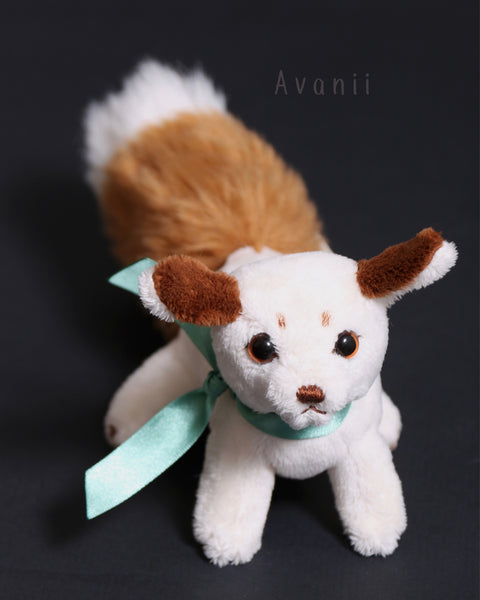 Mini Puppy Fox - handmade plush animal - minky miniature