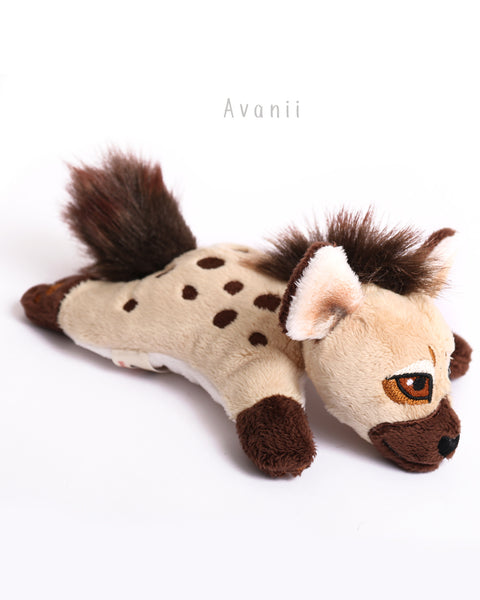 Hyena Bean Plush - small floppy - handmade plush animal