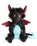 Forest Demon / Devil - handmade fantasy plush - minky miniature