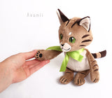 Scottish Wildcat Companion - handmade plush animal - minky miniature