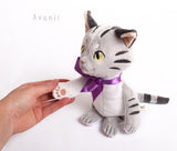 Munchkin Cat Companion - handmade plush animal - minky miniature