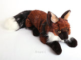 Large Fairy Tale Fox - Handmade plush animal - realistic faux fur